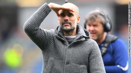 Pep Guardiola has his eyes set on the last two EPL games.