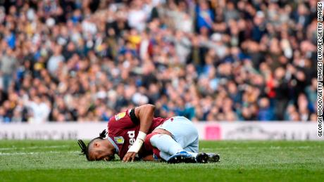 The bizarre events started after Jonathan Kodjia was seemingly fouled.