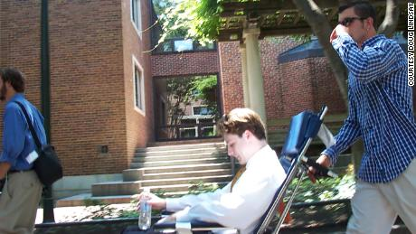With a little help from his friends, Lindsay was able to travel to the University of Pennsylvania for a meeting of the Society for Amateur Scientists in 2002.
