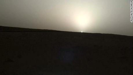 NASA's InSight mission catches Martian sunrise and sunset