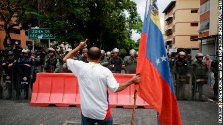 Guaido's call for marches to military bases was part of a bid to lure security forces to his side.