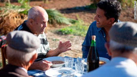 Adolfo Melis' family is regularly joined by friends for dinner.