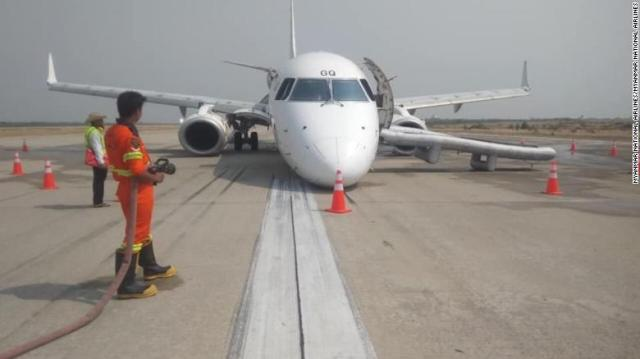 The plane was headed in for landing when the pilot discovered the problem.