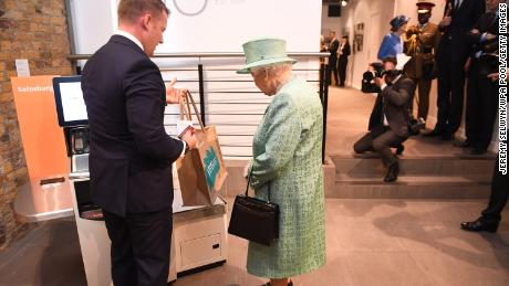 The Queen asked if people could cheat the self-service checkout machine.