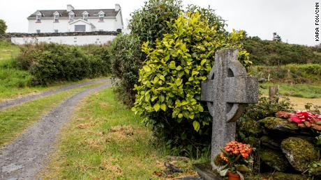 A memorial marks the spot where Sophie Toscan du Plantier was killed outside her holiday home in County Cork, Ireland.