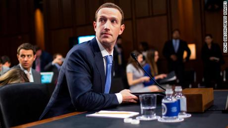 WASHINGTON, DC - APRIL 10: Facebook cofounder and CEO Mark Zuckerberg testifies before a combined Senate Judiciary and Commerce committee hearing on Capitol Hill April 10, 2018 in Washington, DC. (Photo by Zach Gibson/Getty Images)
