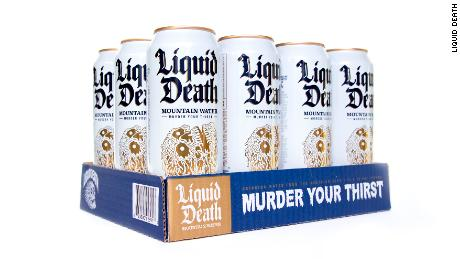 "With the tagline ""Murder Your Thirst,"" Liquid Death applies the bold marketing of energy drinks to a water-in-a-can beverage."