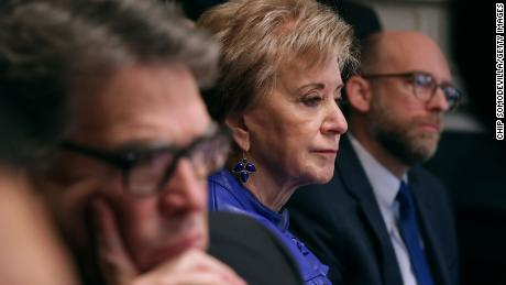 In April Linda McMahon took over as chair of America First