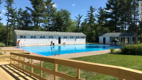 Lieutenant governor of Pennsylvania opens a public pool at his official residence