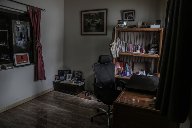 Sekyiamah's office at her home in Accra.