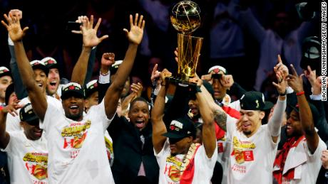 The Toronto Raptors win Canada's first NBA championship