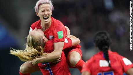Rapinoe is one of three USWNT co-captains.