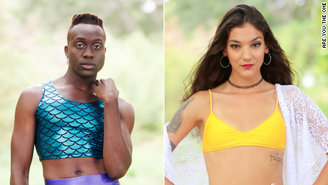 """Basit Shittu, left, and Nour Fraij are two of the 16  """"Are You the One?"""" contestants."""