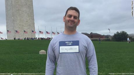 Mark Restivo attends the UNITE to Face Addiction rally in Washington in October 2015.