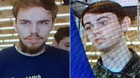 Suspects Kam McLeod, left, and Bryer Schmegelsky.