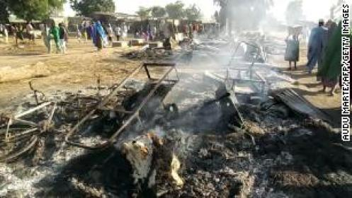 Suspected Boko Haram attack on a funeral leaves 65 dead in Nigeria, official says