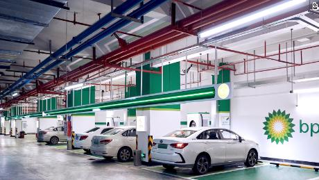 BP's charging hub in Guangzhou, Guangdong province, China.