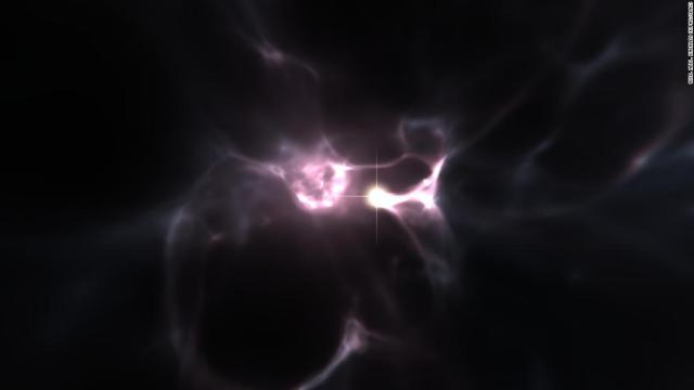 An artist's concept of what the first stars looked like soon after the Big Bang.
