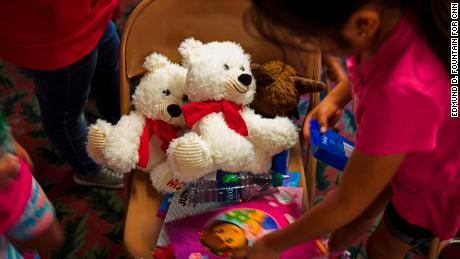 Stuffed animals inside of the Trinity Mission Center in Forest, Mississippi, on August 9, 2019. In the wake of large scale raids by ICE agents on food processing facilities across Mississippi, the center became a hub for those looking for help contacting their loved ones.
