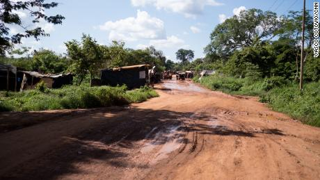 Empty road in Venezuela's Orinoco Mining Arc.