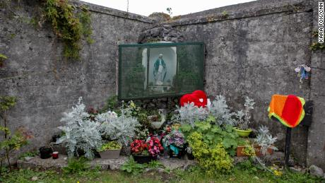 A memorial at the former site of the Tuam Home in County Galway, where the bodies of hundreds of babies who died there were put into   a decommissioned sewage tank.