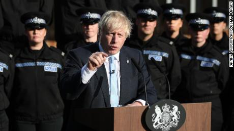 UK police criticize Boris Johnson for using them as an election prop