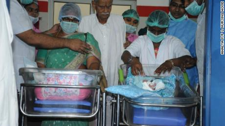Indian woman gives birth to twins at 73