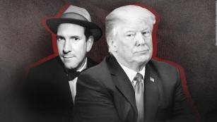 Matt Drudge (L) and President Trump