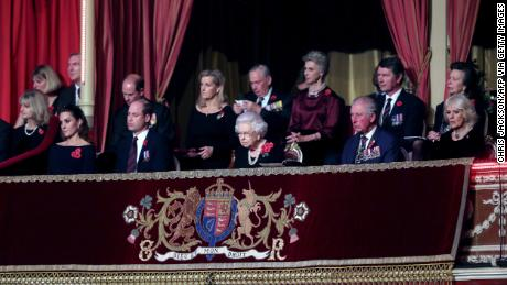 Queen Elizabeth II at the Royal British Legion Festival of Remembrance.