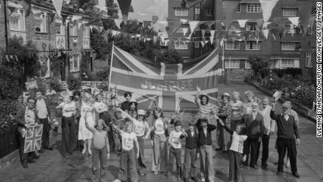 A street party during the Queen's 1977 Silver Jubilee.