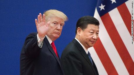 US President Donald Trump and Chinese President Xi Jinping in Beijing on November 9, 2017.