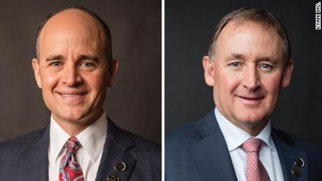 Kirk Hansen, left, and Jim Hansen Jr. were among the nine killed in a South Dakota plane crash.