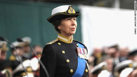 Her Royal Highness The Princess Royal attends the Commissioning Ceremony of HMS Queen Elizabeth at HM Naval Base on December 7, 2017 in Portsmouth, England.  (Photo by Chris Jackson/Getty Images)