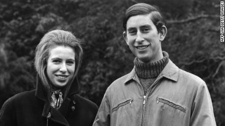 Picture taken on February 26, 1970 showing Prince Charles and Princess Anne of the royal family. (Photo by CENTRAL PRESS PHOTO LTD /AFP via Getty Images)