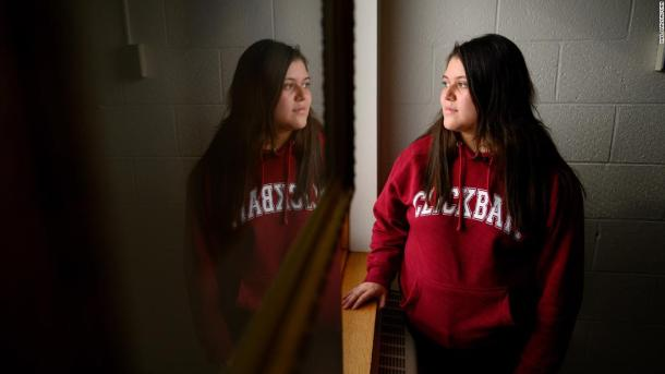 """Gabriela Gonzalez, a senior, says she's learned a lot while making a film about Mario's case. """"It's helping get the story out there,"""" she says, """"so that people are finally aware of what's actually happening right in front of them in their own communities."""""""