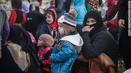 The UN says that more than 235,000 people fled their homes in northwestern Syria in the last two weeks.
