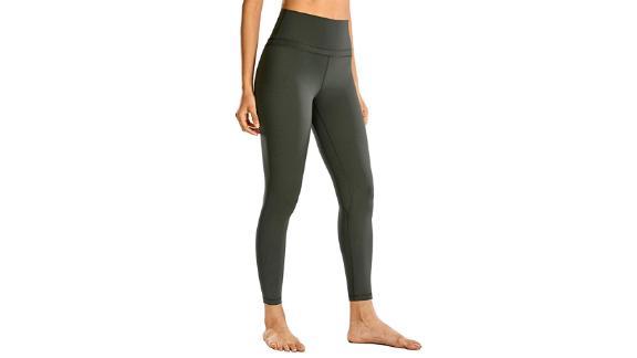 CRZ Yoga Women's Naked Feeling High-Waist Tight Yoga Pants 25-Inch