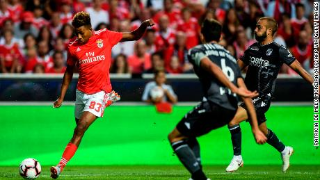 Gedson Fernandes (left) made his Benfica debut last season.
