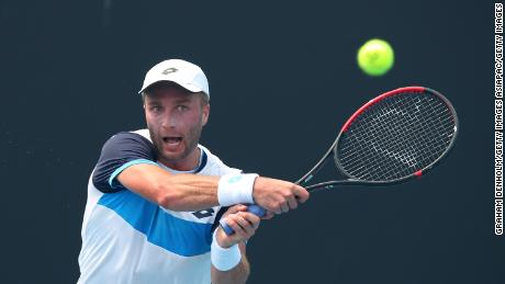 Liam Broady plays in qualifying ahead of the Australian Open.