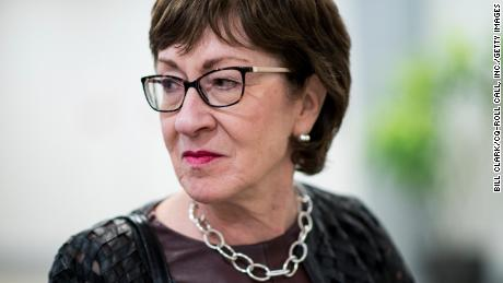 Sen. Susan Collins, R-Maine, arrives in the Capitol for a vote on Wednesday, Dec. 11, 2019.