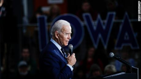 Democratic presidential candidate former Vice President Joe Biden speaks during a campaign event at Iowa Central Community College, Tuesday, Jan. 21, 2020, in Fort Dodge, Iowa.