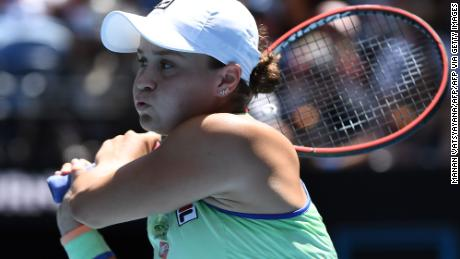 World No. 1 Ashleigh Barty has reached the Australian Open semifinals for the first time.