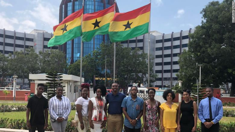 Scholars on a Birthright AFRICA trip to Ghana in 2017.