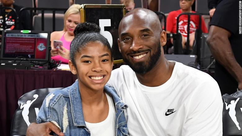 Kobe and Gianna attend the WNBA All-Star Game in 2019.