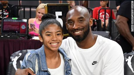 Kobe and Gianna participate in the WNBA All-Star Game in 2019.