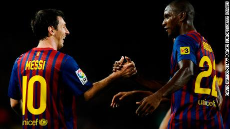 Lionel Messi and Eric Abidal were teammates at Barcelona.
