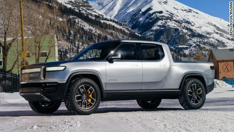 Rivian R1T has a lockable storage compartment under the hood and under the bed.