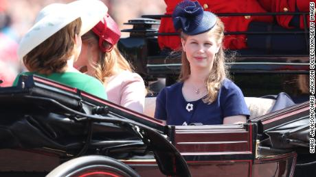 Lady Louise Windsor during Trooping The Colour on the Mall on June 9, 2018 in London, England. (Photo by Chris Jackson/Getty Images)