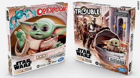 Hasbro and other toy companies unveiled a line of several toys modeled after The Child, aka Baby Yoda, in February 2020.
