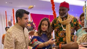 Actors on the set of new Nollywood and Bollywood collaboration 'Namaste Wahala'